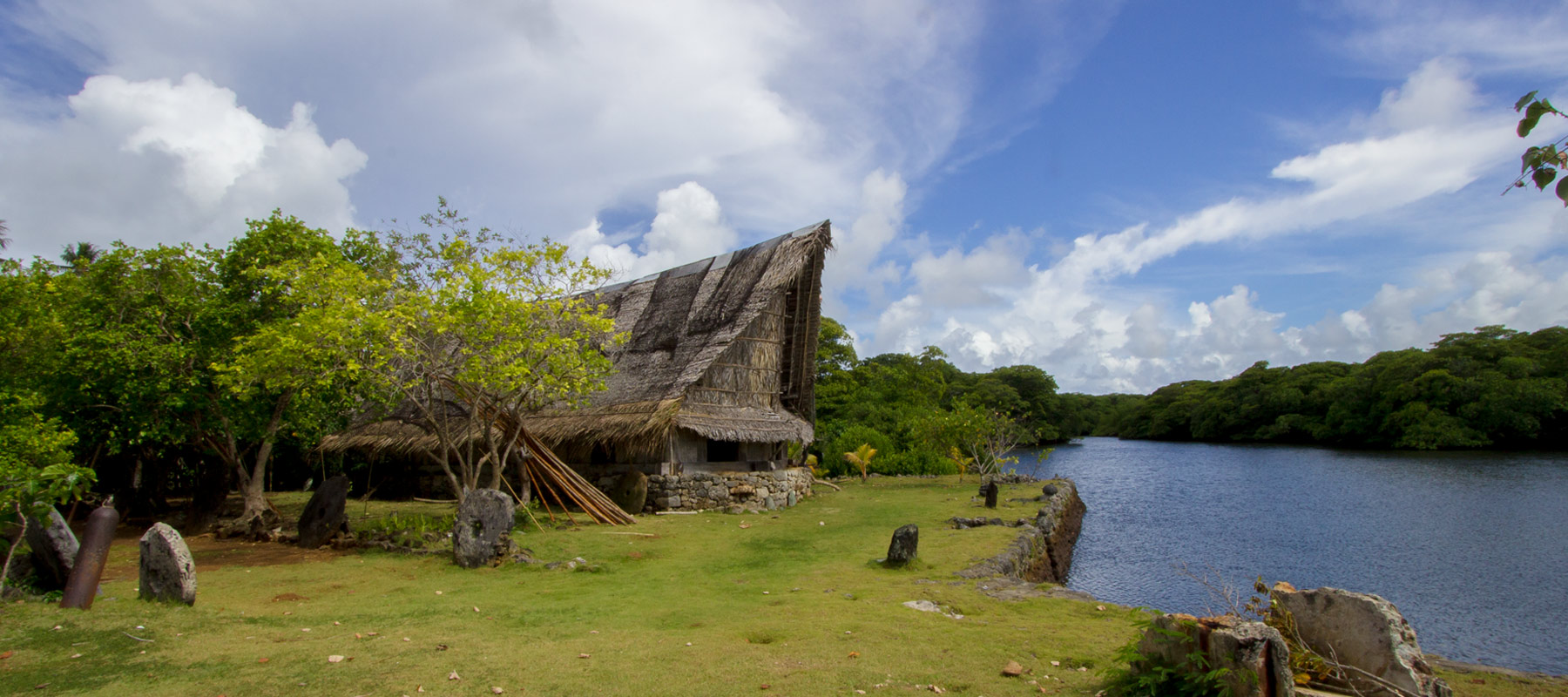 Traditional yapese mens house gagil