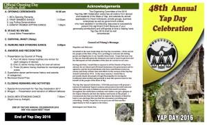2016 Yap Day Program