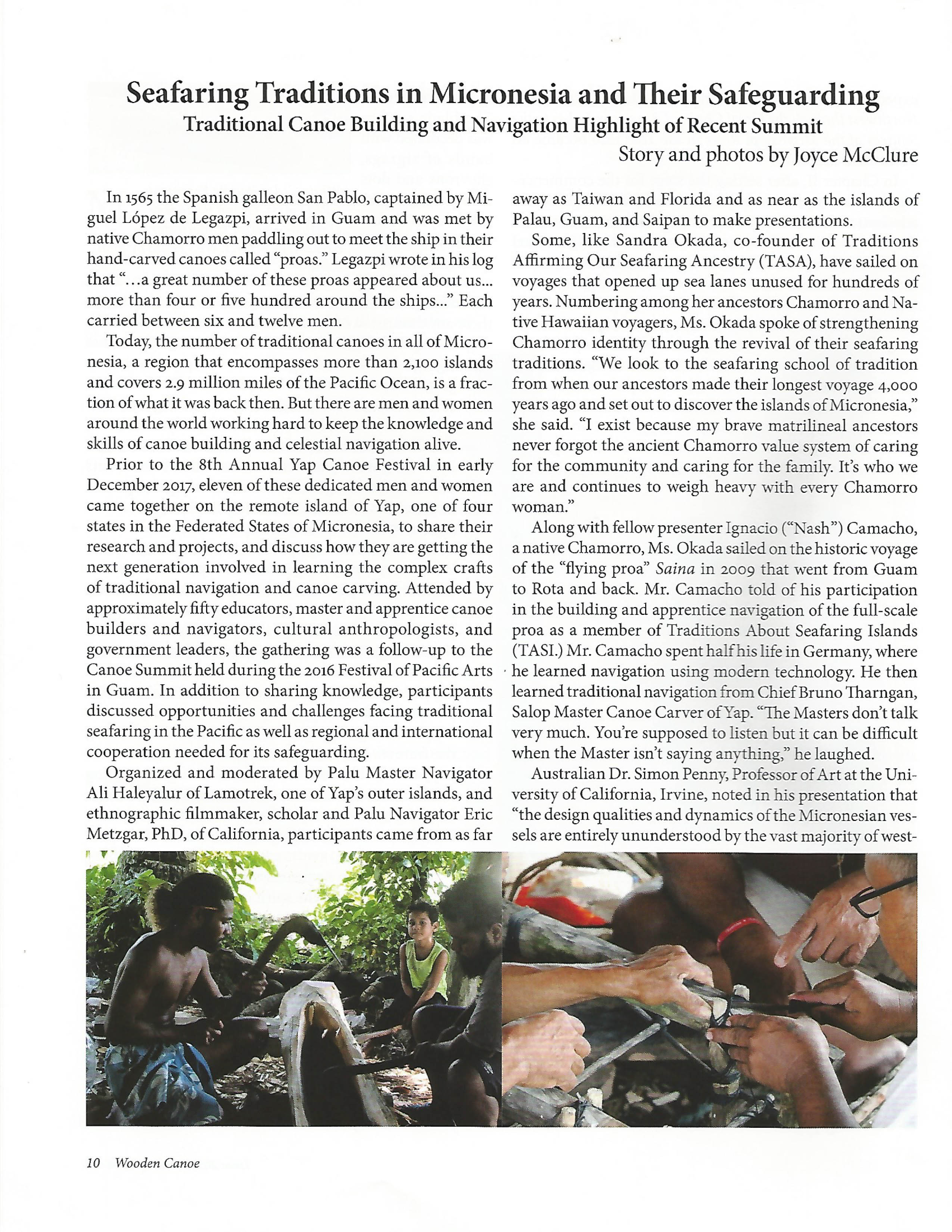 yap traditional canoe article